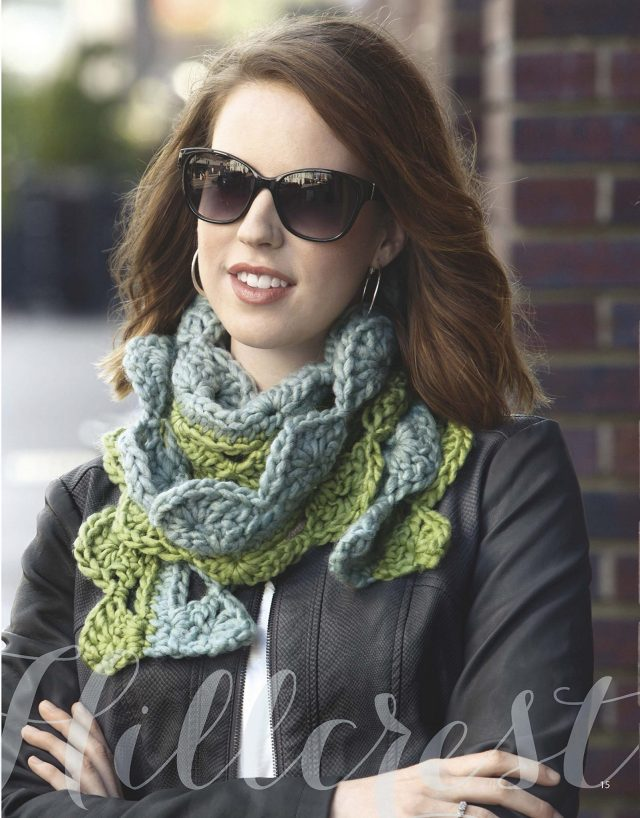 bulky crochet scarf from mirror image scarves