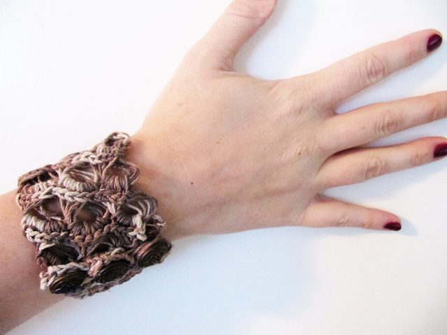 broomstick lace cuff bracelet by erna
