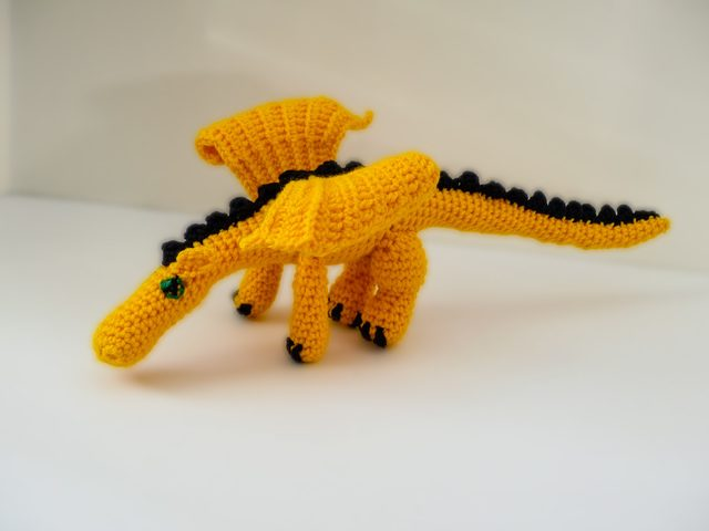 crochet dragon by eyes of a child