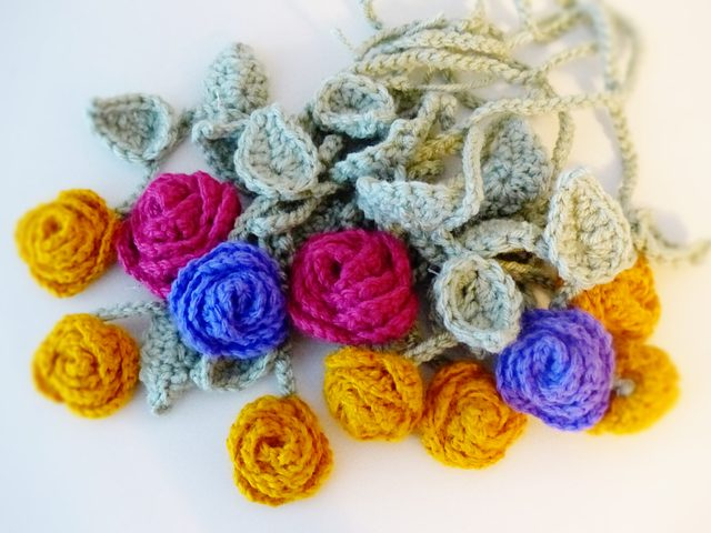 crochet flowers by edna
