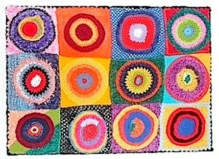 color study by kandinsky in crochet