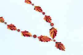 crochet leaf necklace by red squirrel crafts