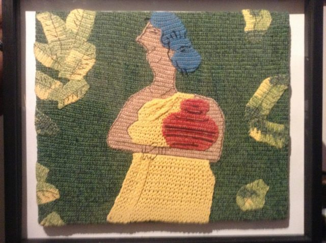 crochet painting of Quamrul Hassan art