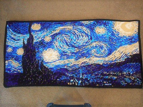 crochet starry night