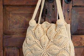 embossed crochet purse by Bonita Patterns