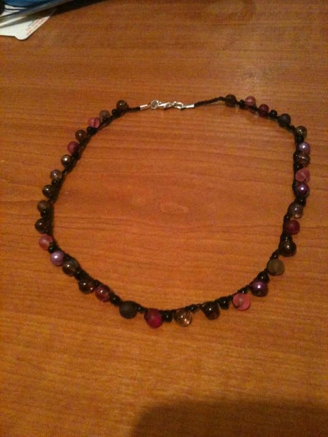 first crochet necklace by red squirrel crafts