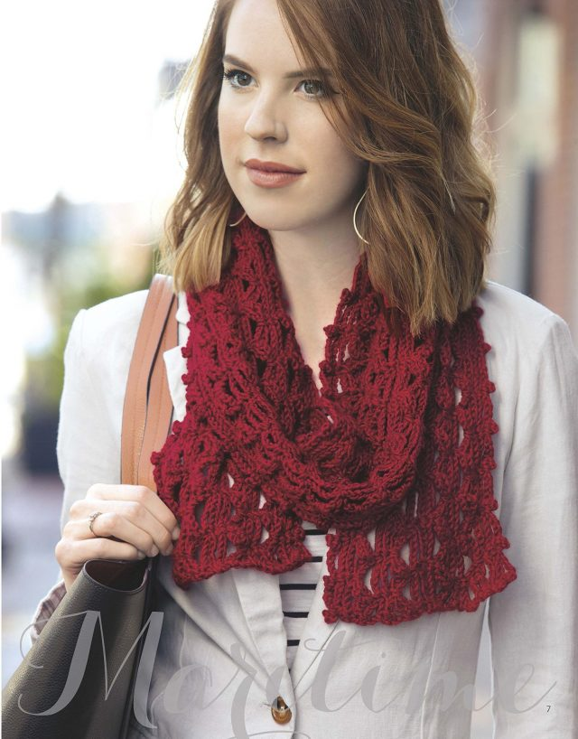 borders scarf crochet pattern from mirror image scarves