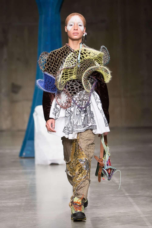 Matty Bovan's Eclectic Sculptural Layered Crochet as
