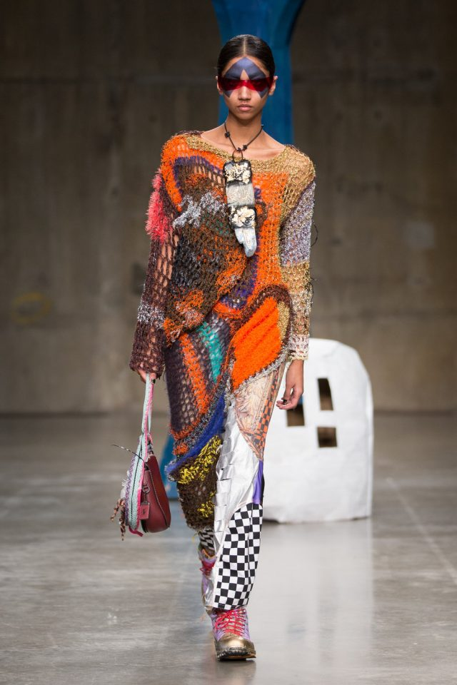 matty bovan fall fashion crochet