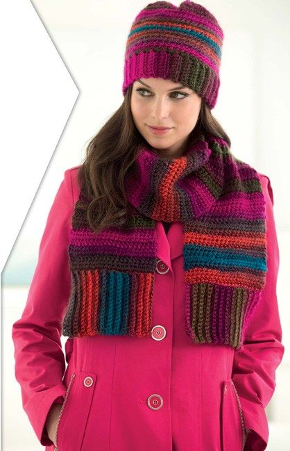 stripe savvy crochet scarf