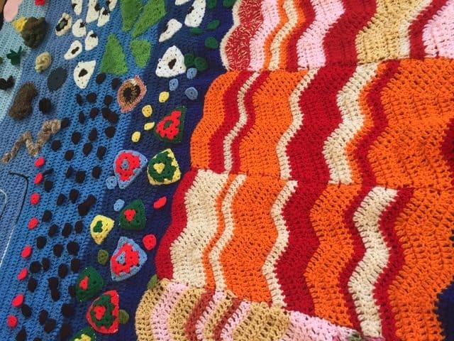vercillo crochet art for autry exhibit