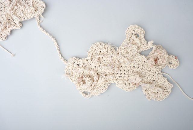 aerial crochet art detail