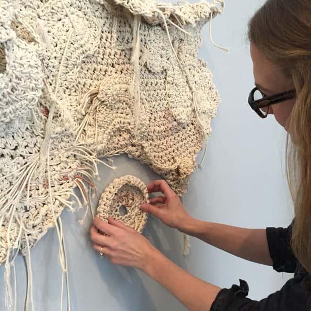 aerial crochet art