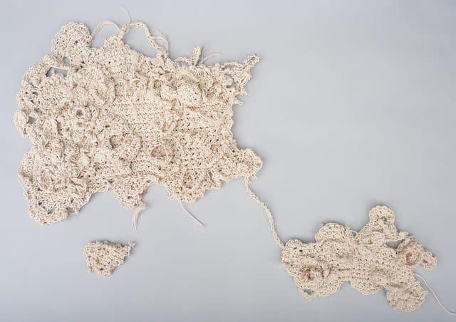 aerial fiber art crochet