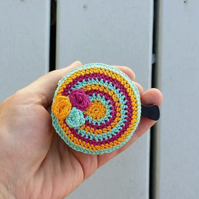 bicycle bell cozy free crochet pattern