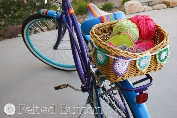 bike basket bunting free crochet pattern