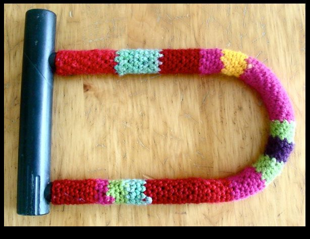 bike lock cozy free crochet pattern
