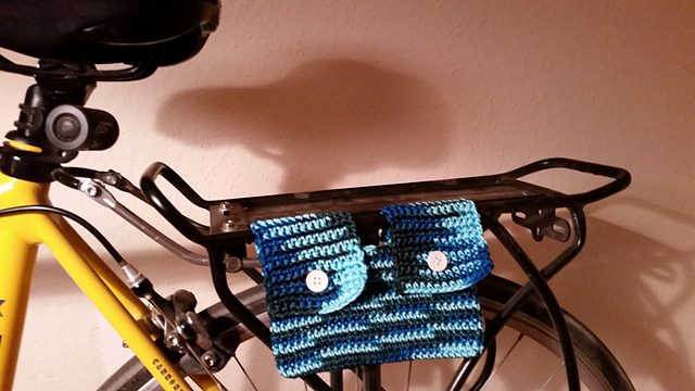 bike rack bag free crochet pattern