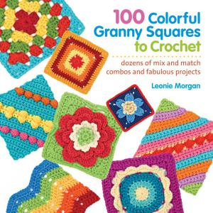 colorful granny squares crochet book