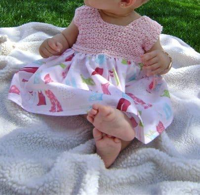 crochet baby dress by sheila