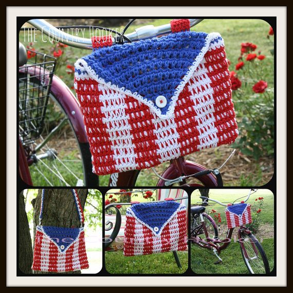crochet bike bag purse pattern