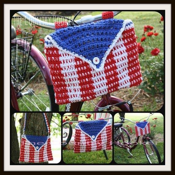 crochet bike bag purse pattern