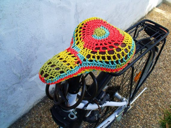 Bicycle crochet patterns skirt guards bike seat covers - Crochet chair cover pattern ...