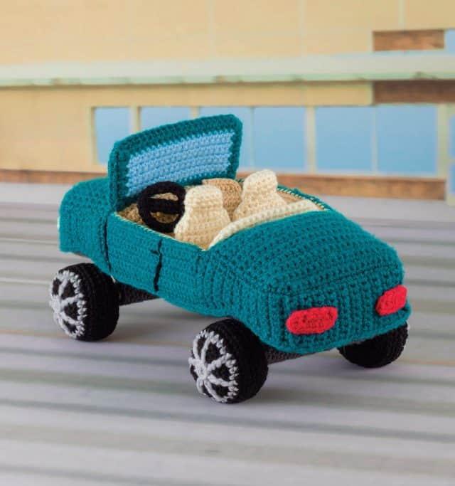 crochet convertible car pattern