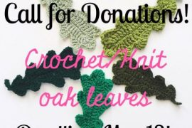 crochet oak leaves art project