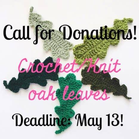 crochet oak leaves art project