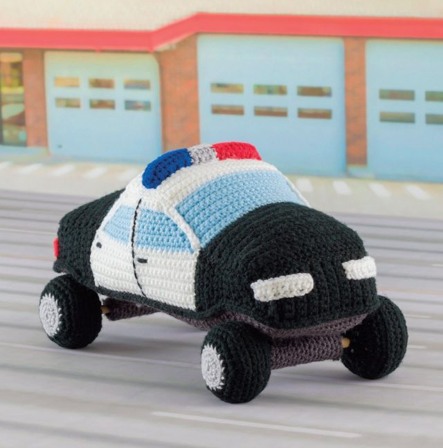 crochet police car pattern