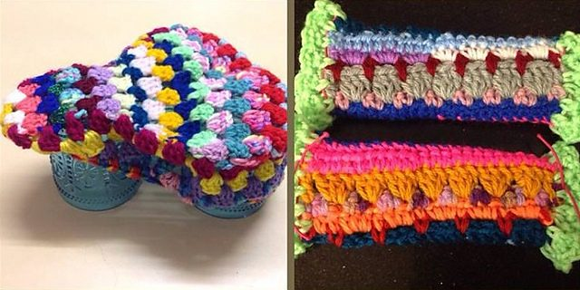 granny crochet bike seat cover free pattern