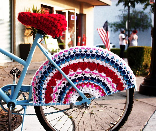 heart bike skirt crochet pattern