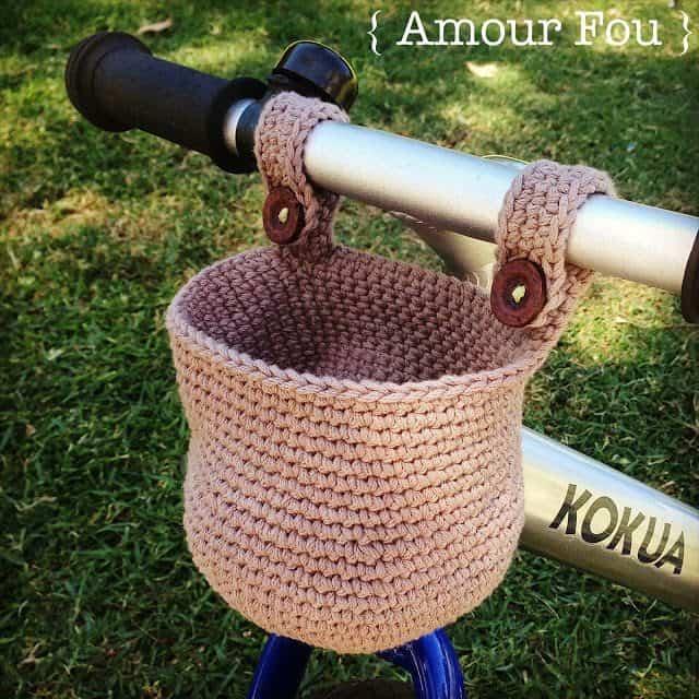 kids crochet bike basket free pattern