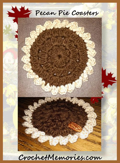 pecan pie crochet coaster patterns