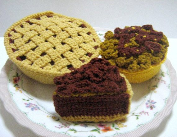 pecan pie slice crochet pattern