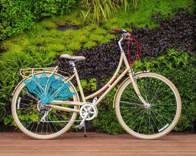 pineapple lace bike guard crochet pattern