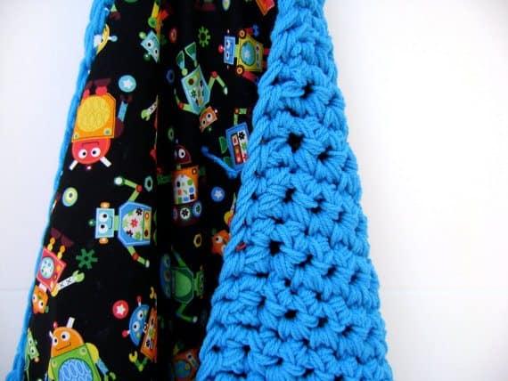 reversible crochet blanket by sheila