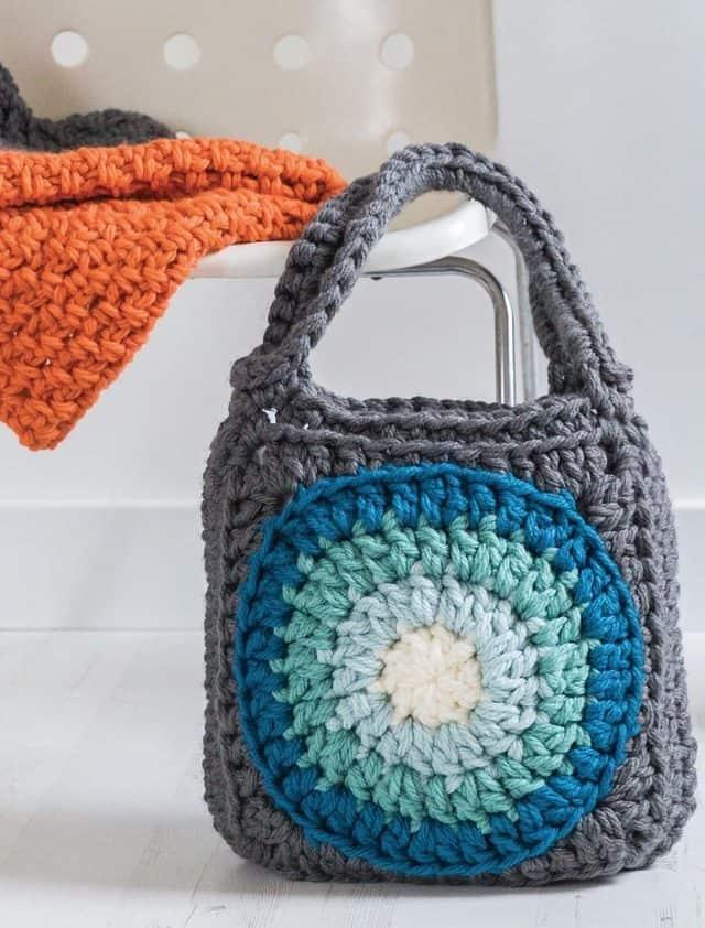 supersize crochet ombre crochet tote