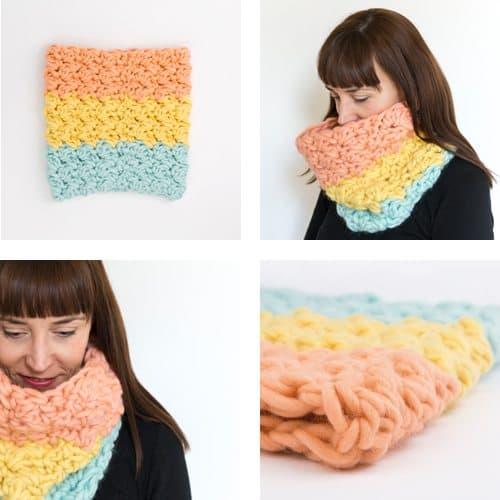 supersize crochet snood pattern