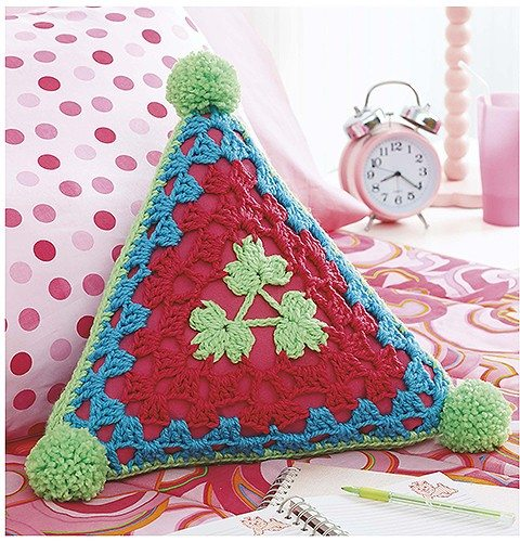 triangle doily pillow