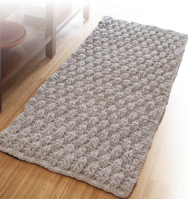 basketweave rug from retro rugs crochet book
