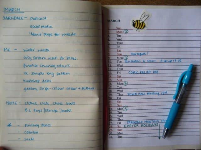 bullet journal from crochet designer attic24