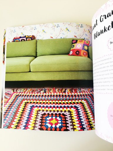 colorful crochet granny square blanket