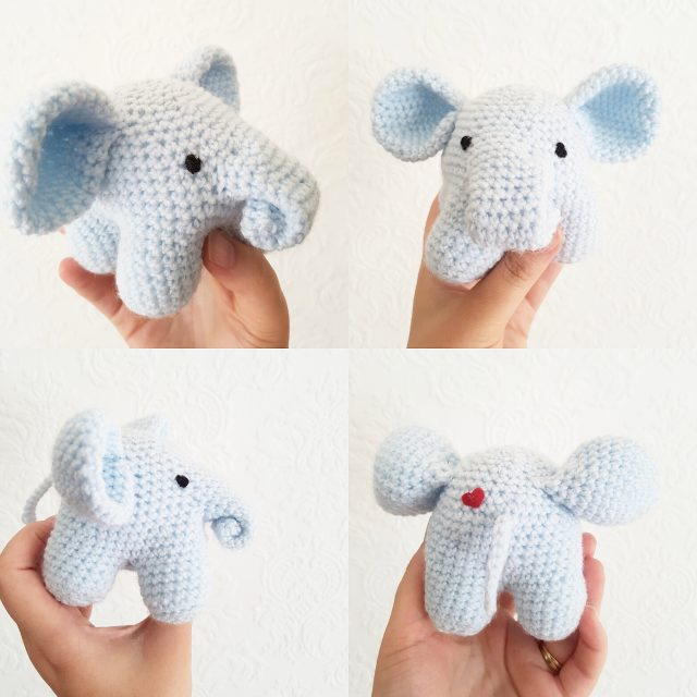 crochet elephant by caitie