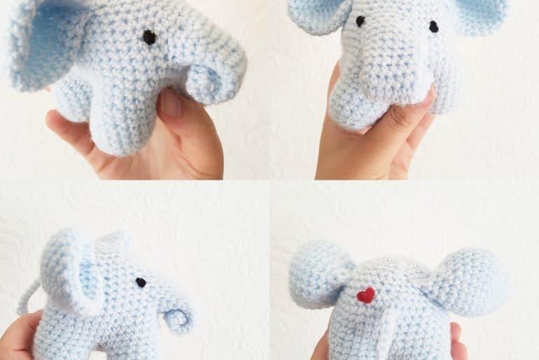crochet elephant by caitie