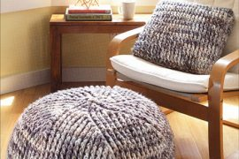 crochet poufs and pillows