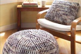 crochet poufs and pillows