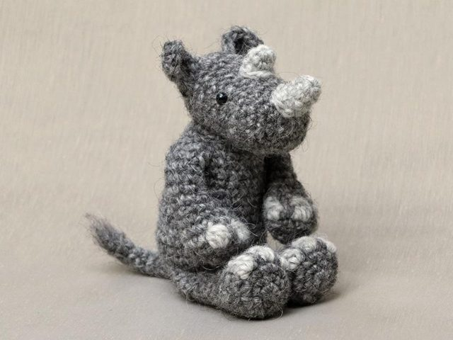 crochet rhino pattern for sale