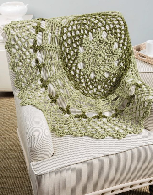 green doily afghan